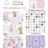 lilac dream and a wish teepee fabric set