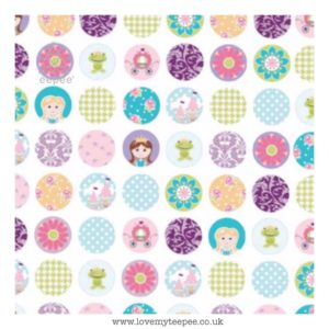princess dots on white cushion cover