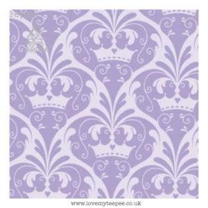 lilac crowns cushion cover