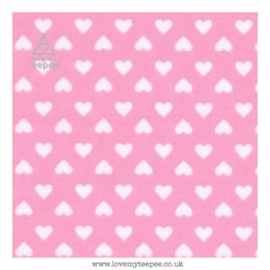 pink hearts cushion cover