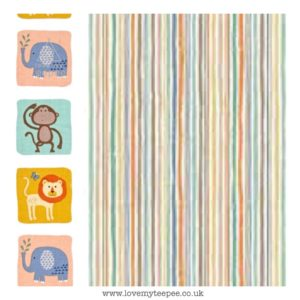 stripe with animal side boarder cushion cover