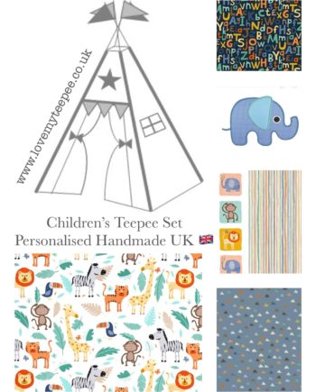 baby jungle animals childrens teepee fabric collection
