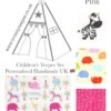 the wild jungle animals childrens teepee fabric pink collection