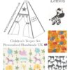 the wild jungle animals childrens teepee fabric lemon collection