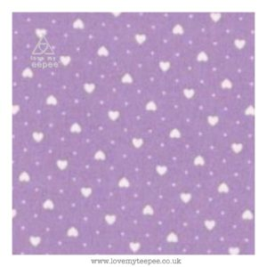 lilac hearts cushion cover