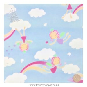 blue fairy & clouds cushion cover