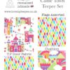 castle town bright princess fabric teepee set