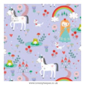 princess dreams lilac cushion cover
