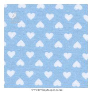 blue hearts cushion cover