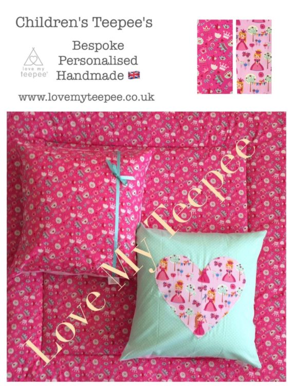 little darling pink fabric floor mat and cushions