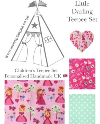 little darling pink fabric teepee set