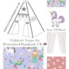 princess dreams lilac childrens lace door teepee fabric set