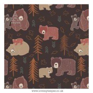 brown bear cushion cover
