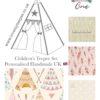 shabby chic cream lace girly pink boho bohemian kids teepee tent set girls wigwam tipi wild one arrow