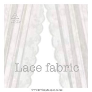 off white lace with scalloped edge