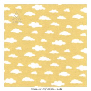 yellow cloud cushion cover