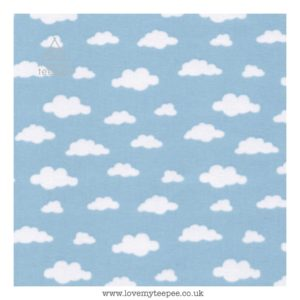 blue cloud cushion cover