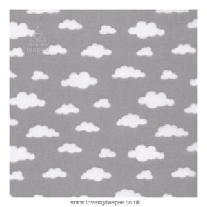 grey cloud cushion cover