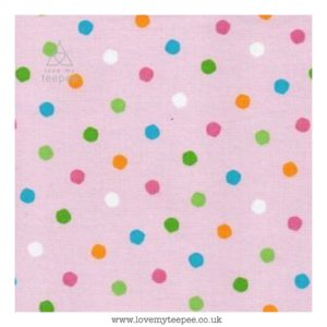 pink multi spot cushion cover