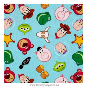 toy story emoji characters blue cushion cover