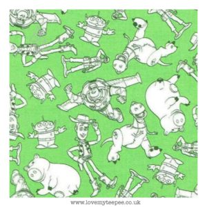toy story character outlines green cushion cover