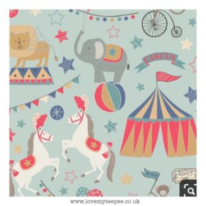 circus animals cushion cover
