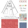 kids circus teepee tent fabric collection