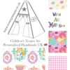girls disney alice in wonderland teepee tent fabric collection