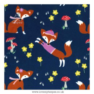 navy fox cushion cover