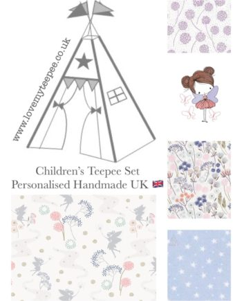 make a wish fairy girls teepee tent fabric collection kids personalised