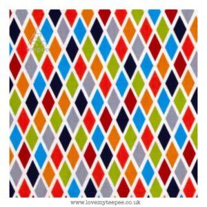 multi rhombus cushion cover