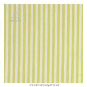 lime stripe cushion cover