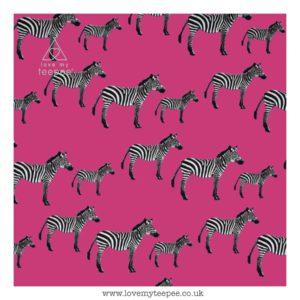 pink zebra cushion cover