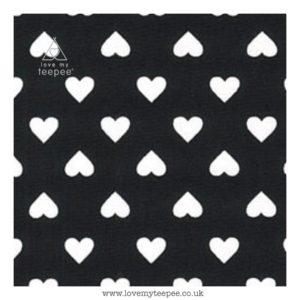 black heart cushion cover