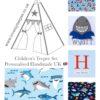 boy kids baby shark town teepee tent, mat and cushion nursery set