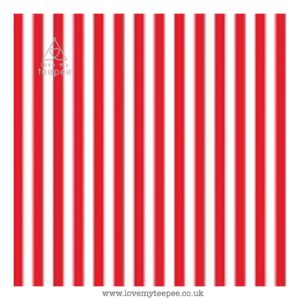 red stripe cushion cover