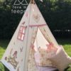 girls country girl teepee tent rose fabric appliqued handmade bespoke