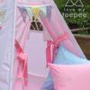 flower meadow lace teepee pink bow tiebacks pastel flags