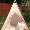 shabby chic cream and pink rose teepee