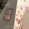 girls shabby chic cream and pink rose teepee window