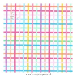 pastel check cushion cover