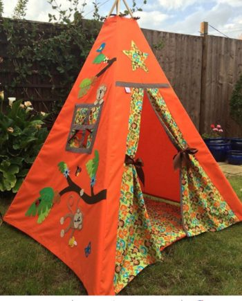 boys monkey jungle leaves kids teepee tent and wadded floor mat