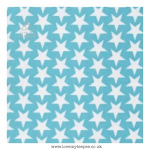 aqua stars cushion cover