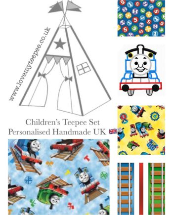 kids thomas the tank engine teepee tent personalised