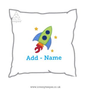 Kids personalised rocket cushion competition giveaway