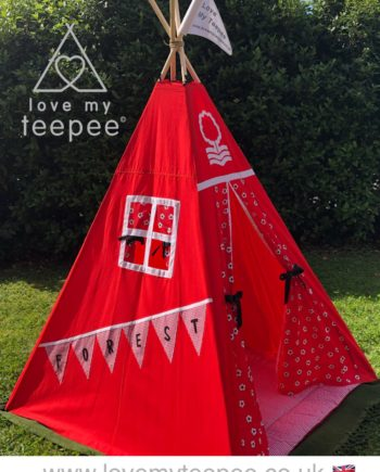 nottingham forest football club kids red teepee tent